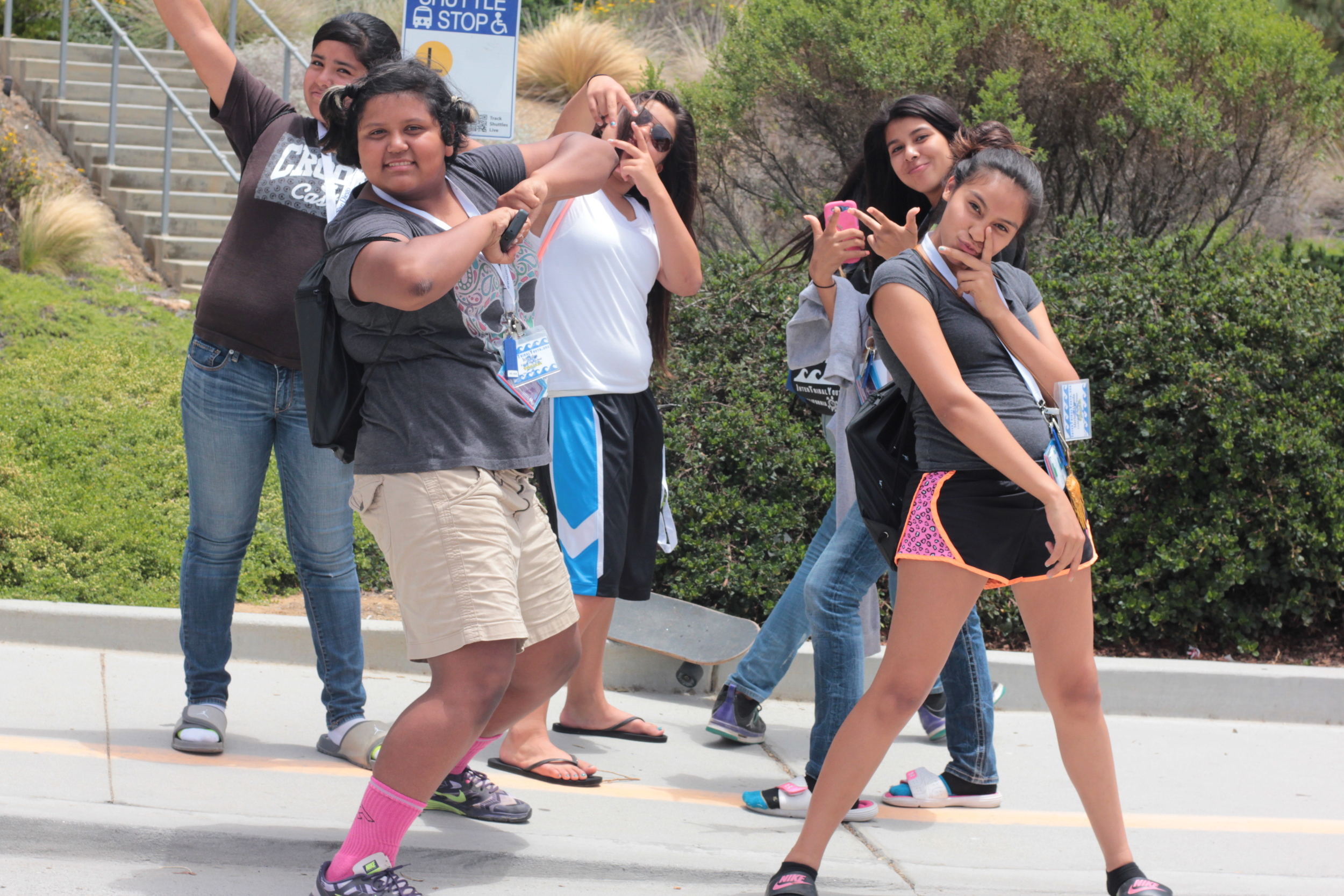 random acts of positive self-esteem. Youth enjoying the experience and the Ucsd campus.