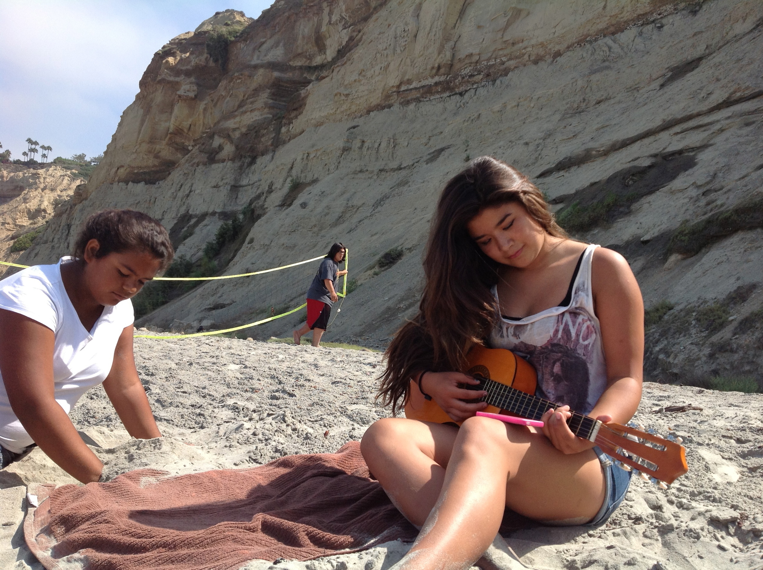 InterTribal youth Barona and Sacramento youth. Song and fitness. Location:Blacks beach, La jolla, ca aka kumeyaay territory