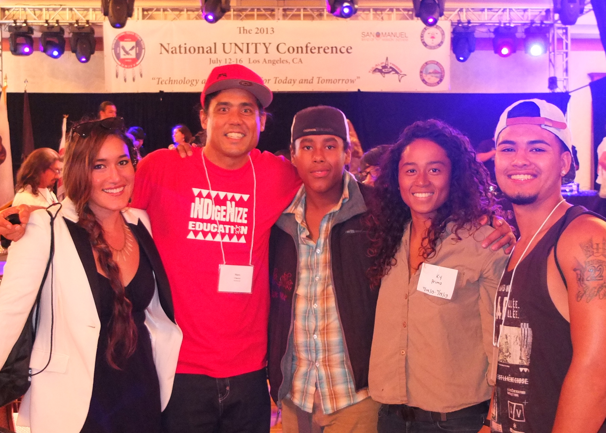 """ITY Presentation of """"Facebook Indians"""" at National UNITY YOuth Conference with ITY Alum, Interns, and actress Qorianka during our ITY Presentation on """"Facebook Indians"""""""