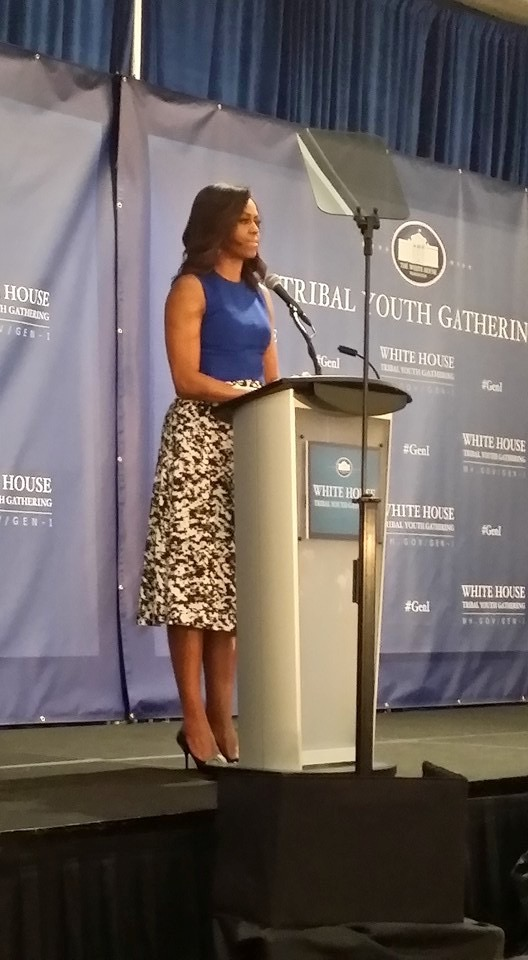 First Lady Michelle Obama addresses the youth with tear jerking sincerity.