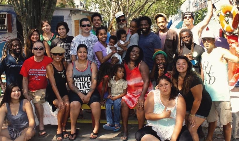 BILLY WILMOT AND YOUNG FAMILY OF JAMNESIA AND JAMAICA SURF TEAM. YOUTH APPRECIATE THE RARE OUTLET OF SURFING, SKATING, MUSIC, POSITIVE VIBES. in 2016
