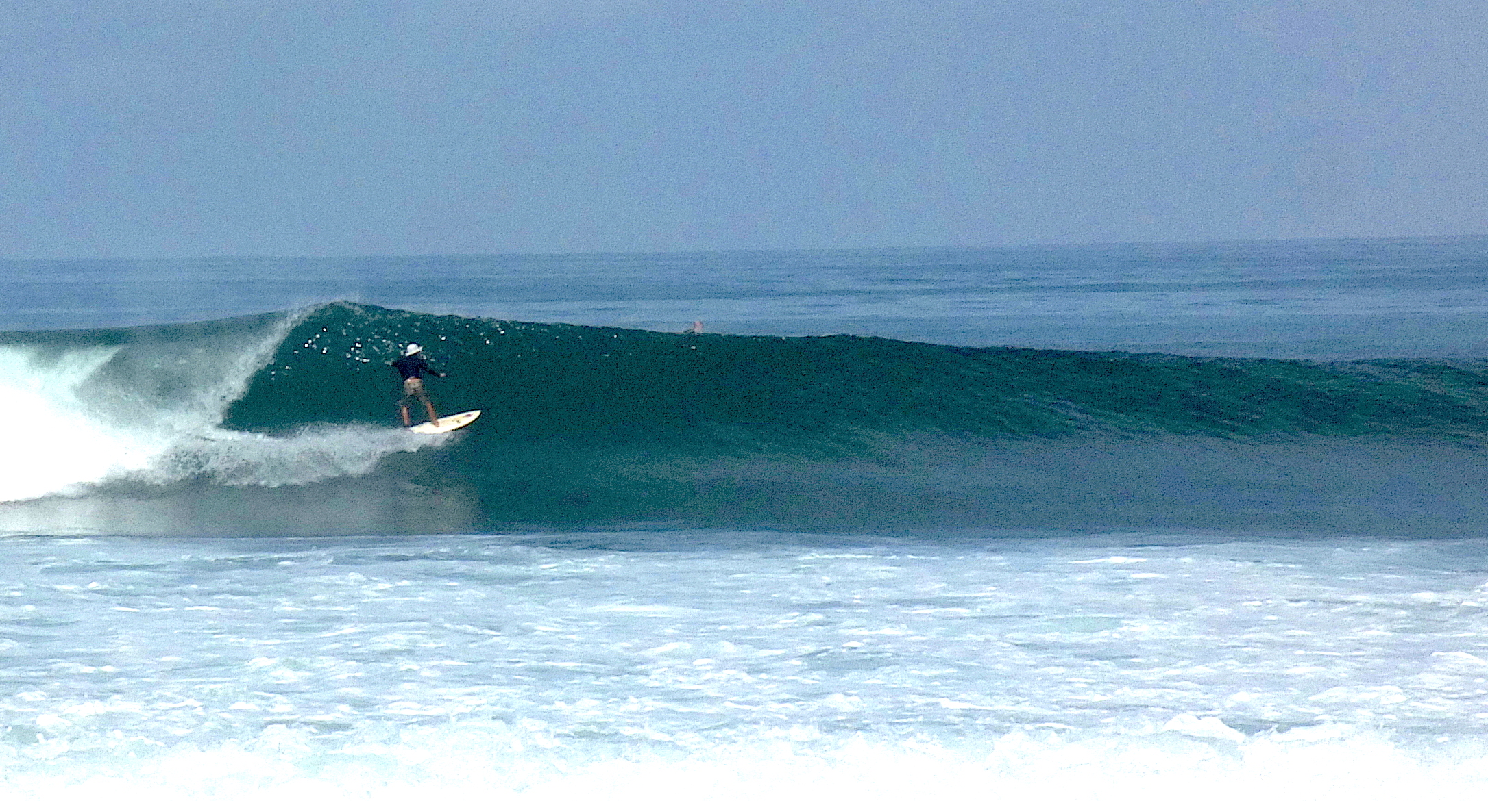 South Swells are great in May and you can find some nice long lefts. ITy Director, Marc Chavez feeling at home.