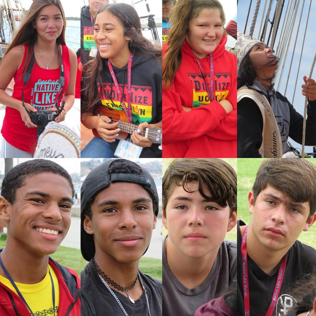 8 of the 11 2018 Scholarship recipients . From top left to bottom, Melissa, Manaia, Beatrice, Darylin, Ras, Tri, Tuvish, Anthony. All attended the San Diego Summer Enrichment Program