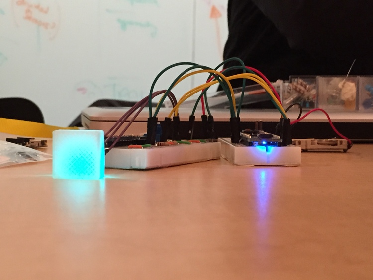 Glo working prototype using Color Led, Accelerometer,Lithium battery