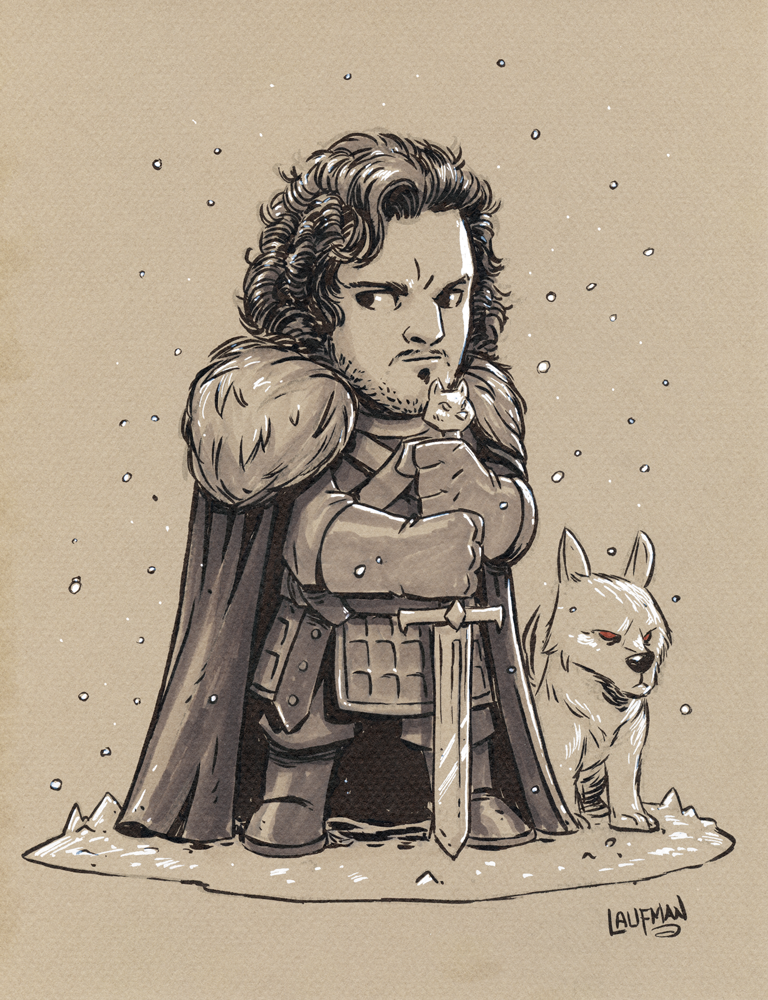 Chibi-Jon-Snow-and-Ghost-ink-and-Marker.png