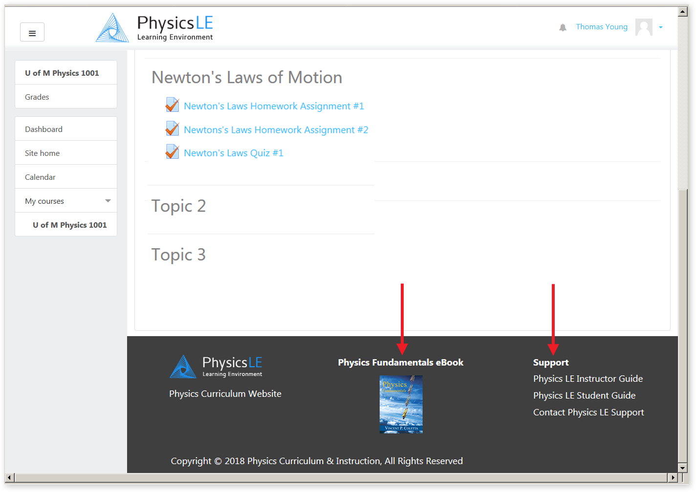 Physics Fundamentals eBook and Support