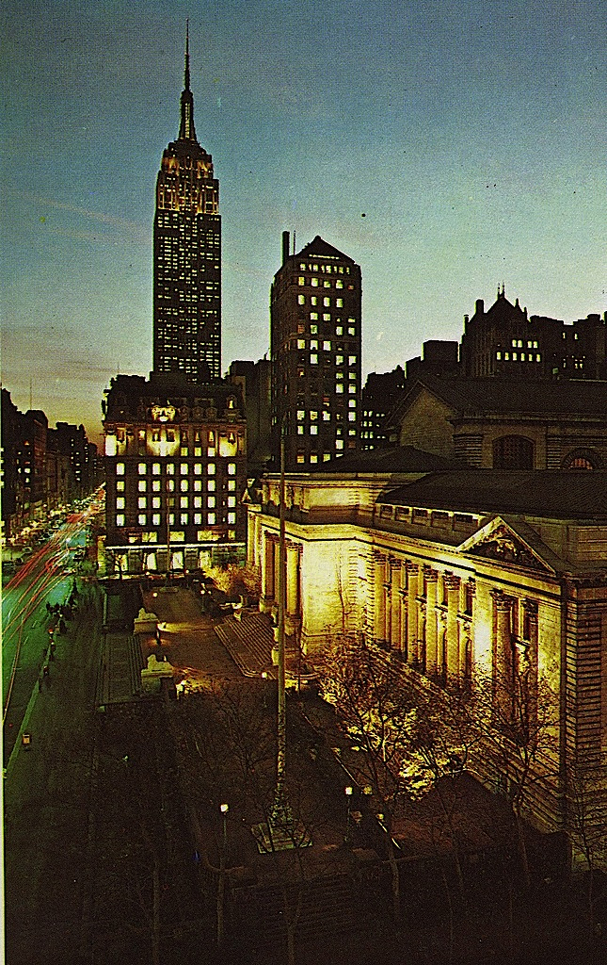 View of IAUS of Empire State Building, 5th Ave