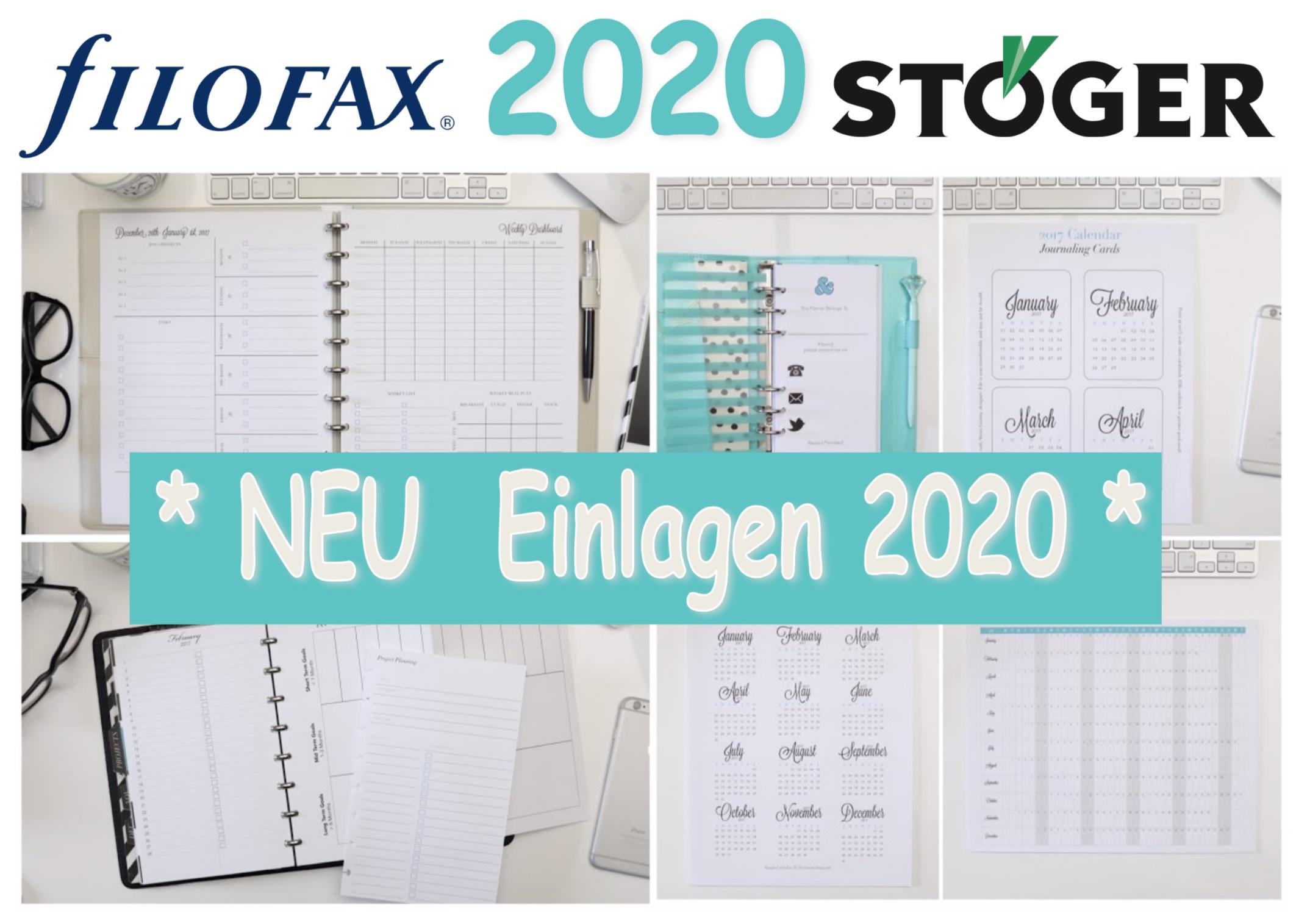 Filofax einlagen 2020