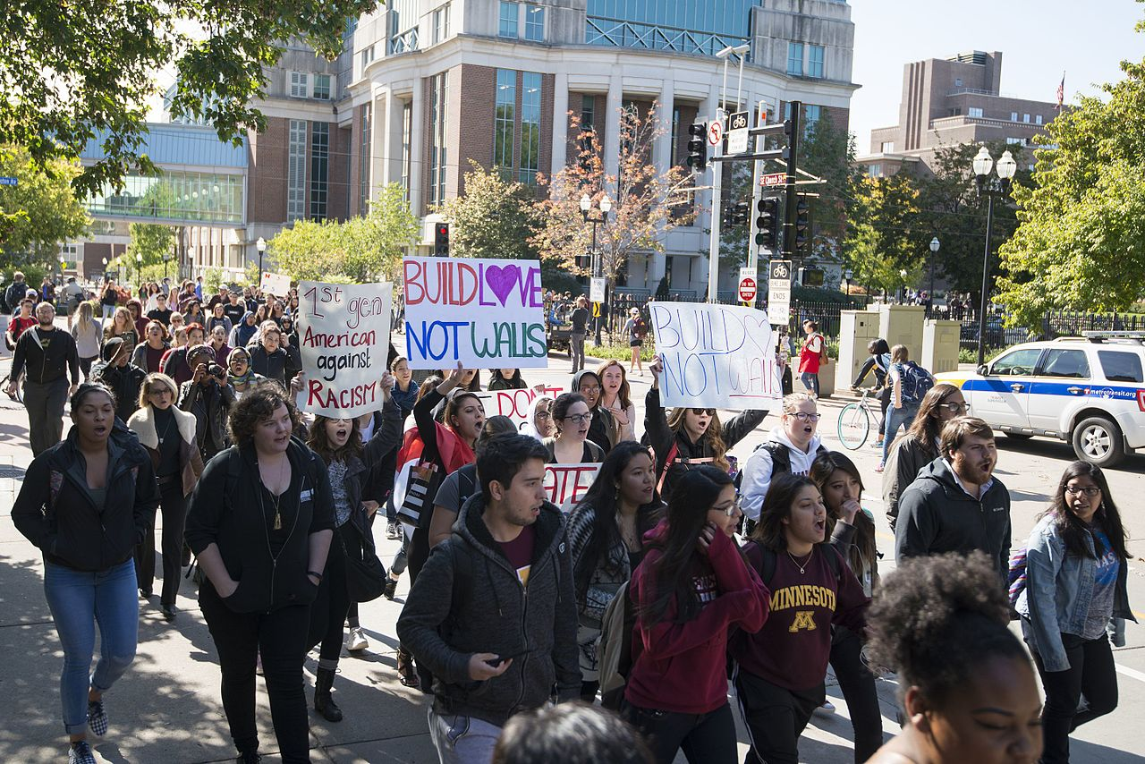 Campus protest march against hate speech