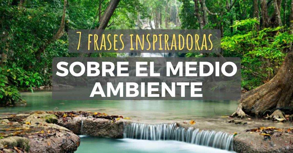 7 Frases Inspiradoras Sobre El Medio Ambiente Y Su Cuidado La Red Hispana