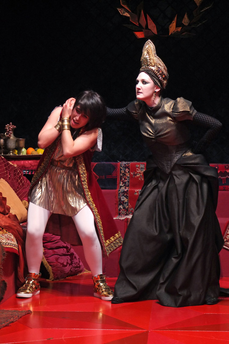 Agrippina reprimands her son Nerone
