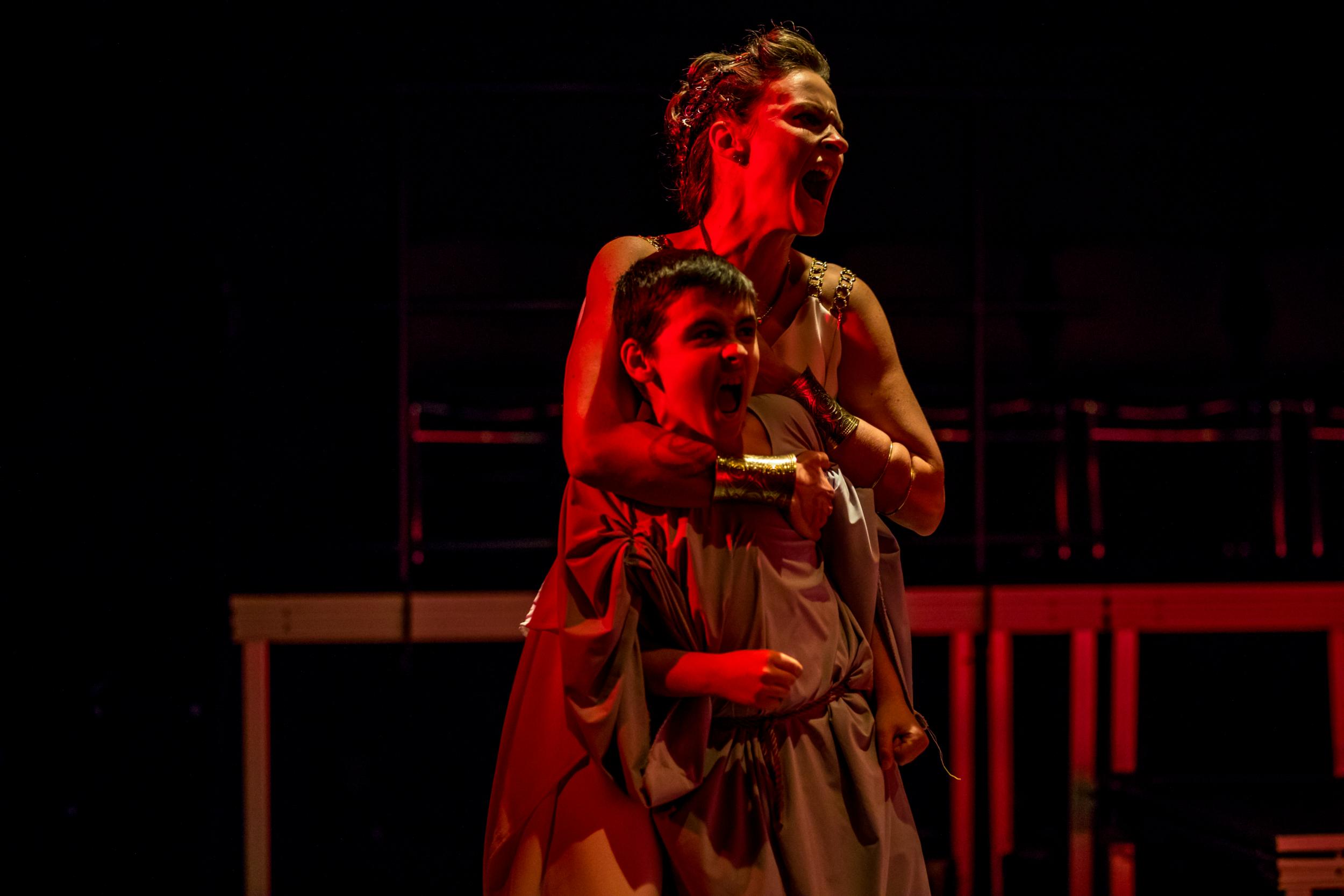 Leah Gabriel (Medea) and Silas Wade