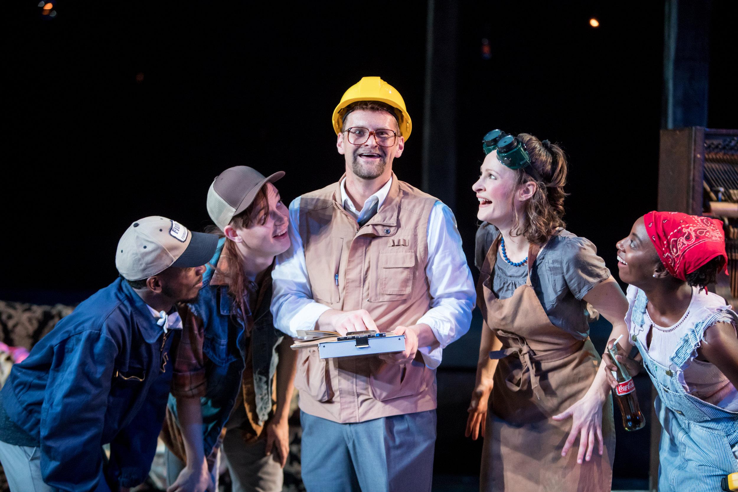 Antonio Duke (Flute), Silas Sellnow (Bottom), Andrew Carlson (Quince), Leah Gabriel (Snout) & Anique Clements (Snug)
