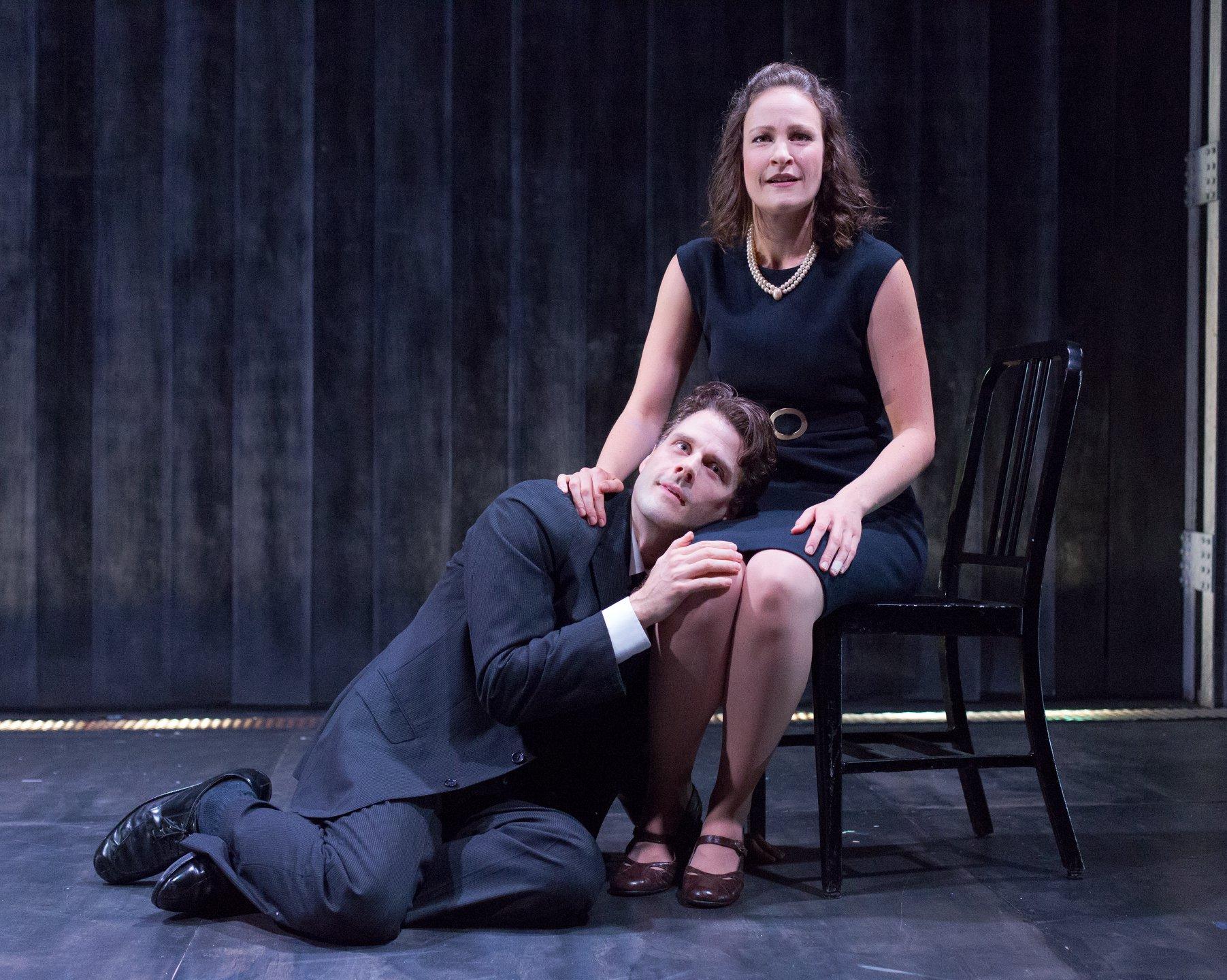 Michael Zlabinger (Victor) & Leah Gabriel (Caroline)