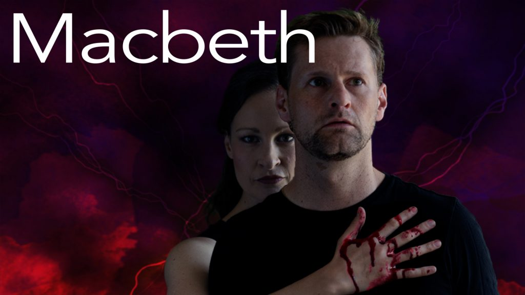 Leah Gabriel (Lady Macbeth) and Andrew Carlson (Macbeth)