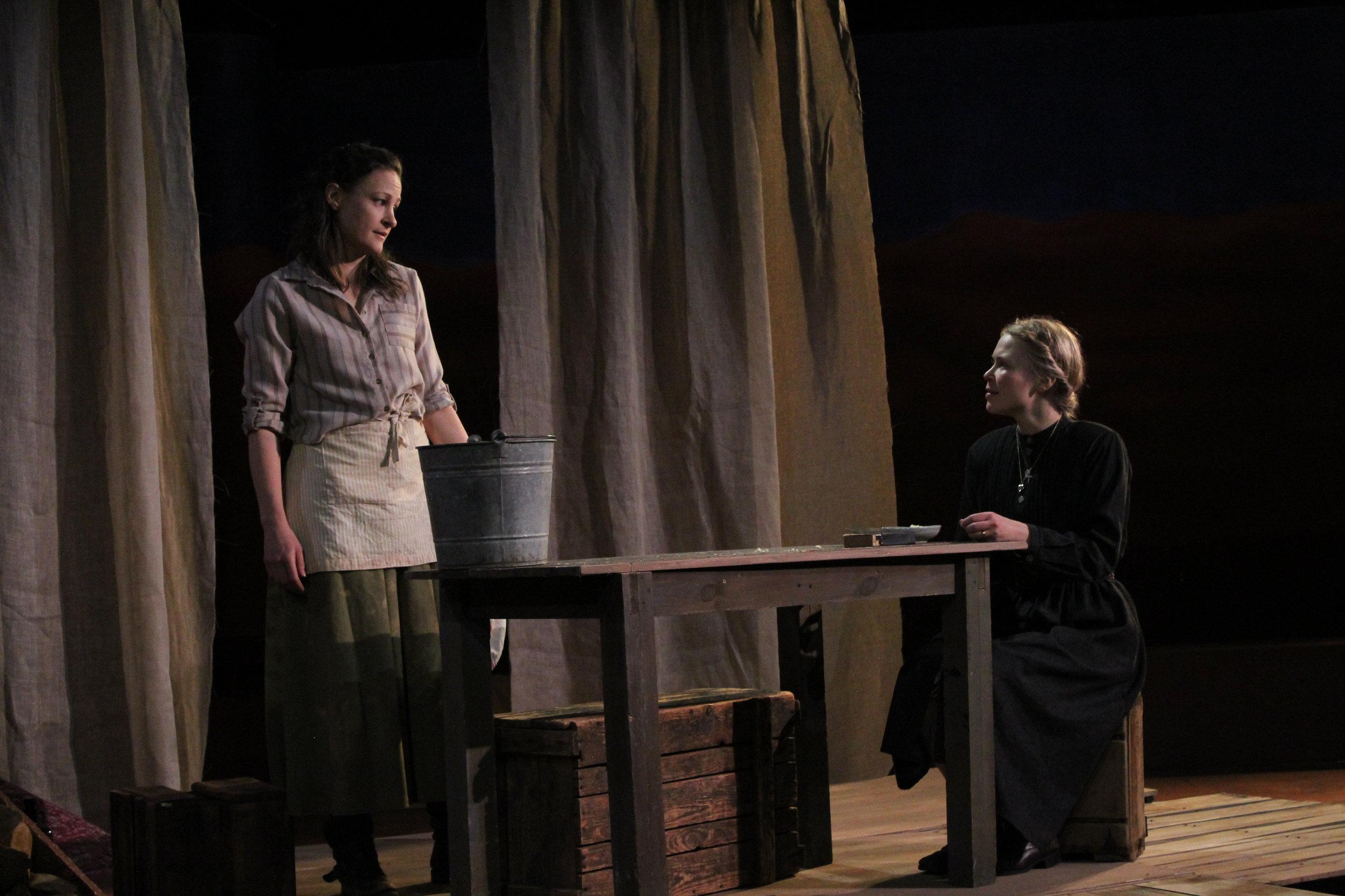 Leah Gabriel (Nora) and Jillian Geurts (Elizabeth)