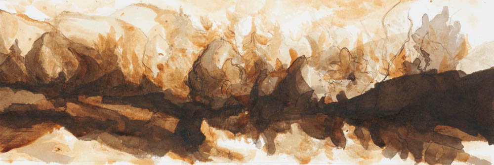 Mud Pond from the canoe, Study #43