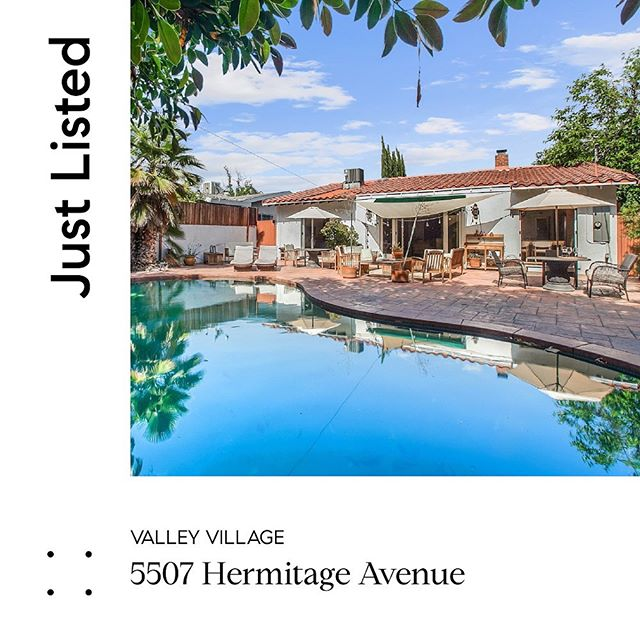 New listing alert! Spanish Oasis $950k 5507 Hermitage Ave Valley Village 3bed/2bath Upgraded, updated and ready to move in! Open Sat 6/8 & Sun 6/9 2-5pm. COME SEE IT BEFORE IT'S GONE!