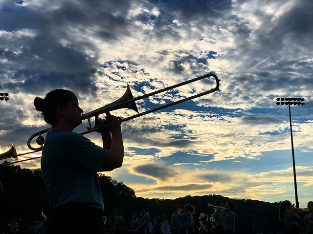 Sunset in Athens never gets old when you're marching. . . . #Marching110 #OUohYeah #Bobcats #AthensOhio #Athens #Ohio #OhioU #OhioUniversity #45701  #IgersOhio #110 #CollegeMarching #HIO #GetThere #MostExctingBandInTheLand #Band #MarchingBand #Capture_Ohio #Music #OnlyInOhio #JJ_Ohio #One_Ohio #NickBolin Photo By: @Nick.Bolin ©Nick Bolin www.NickBolin.com