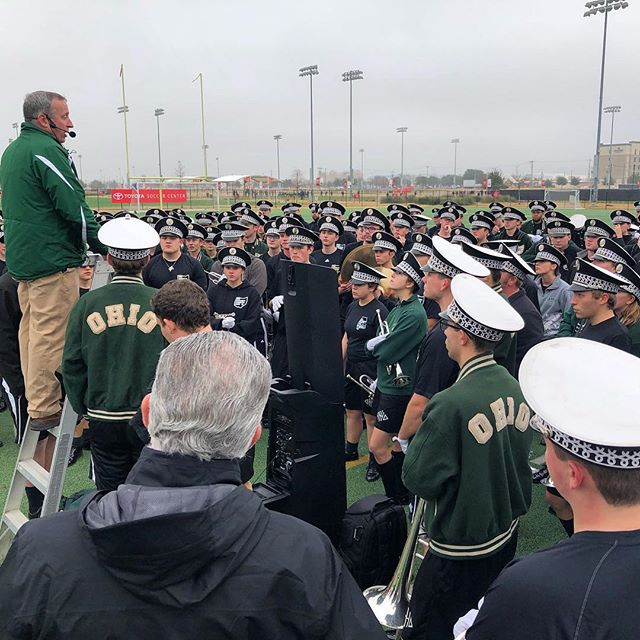Great morning practice. . . . #Marching110 #OUohYeah #Bobcats #texas #friscotexas #friscobowl #Ohio #OhioU #OhioUniversity  #IgersOhio #110 #CollegeMarching #HIO #GetThere #Band #MarchingBand #Music #NickBolin Photo By: @Nick.Bolin ©Nick Bolin www.NickBolin.com