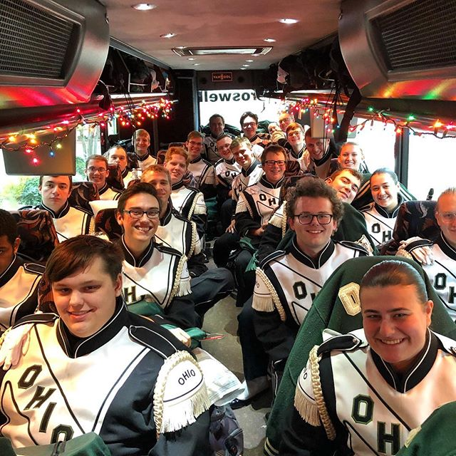 Off to the game . . . #Marching110 #OUohYeah #Bobcats #texas #friscotexas #friscobowl #Ohio #OhioU #OhioUniversity  #IgersOhio #110 #CollegeMarching #HIO #GetThere #Band #MarchingBand #Music #NickBolin Photo By: @Nick.Bolin ©Nick Bolin www.NickBolin.com