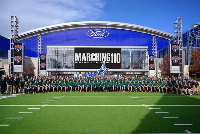 And now Texas knows... . . . #Marching110 #OUohYeah #Bobcats #texas #friscotexas #friscobowl #Ohio #OhioU #OhioUniversity  #IgersOhio #110 #CollegeMarching #HIO #GetThere #Band #MarchingBand #Music #NickBolin Photo By: @Nick.Bolin ©Nick Bolin www.NickBolin.com