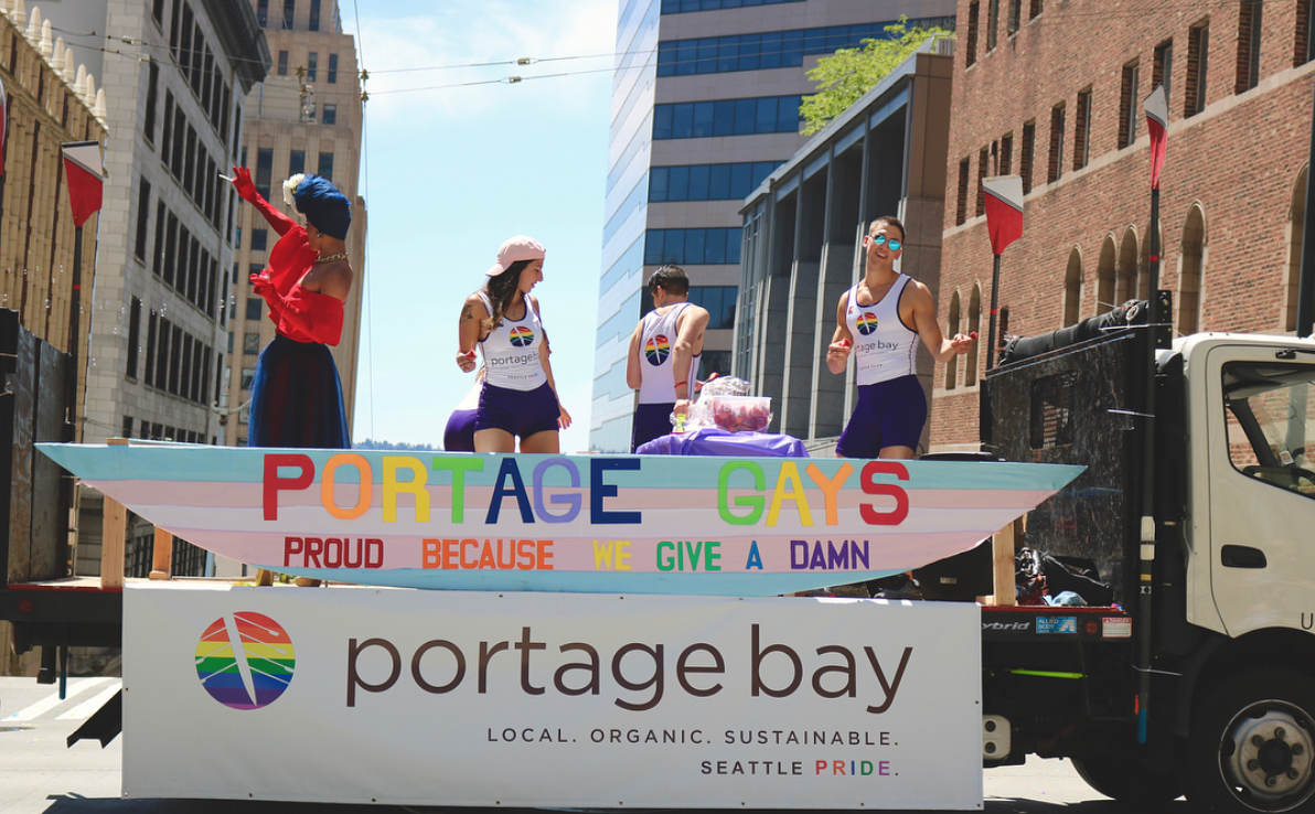 Portage Bay employees participated in the Pride Parade on Sunday, June 24. The float took three days to build and about five months to plan.