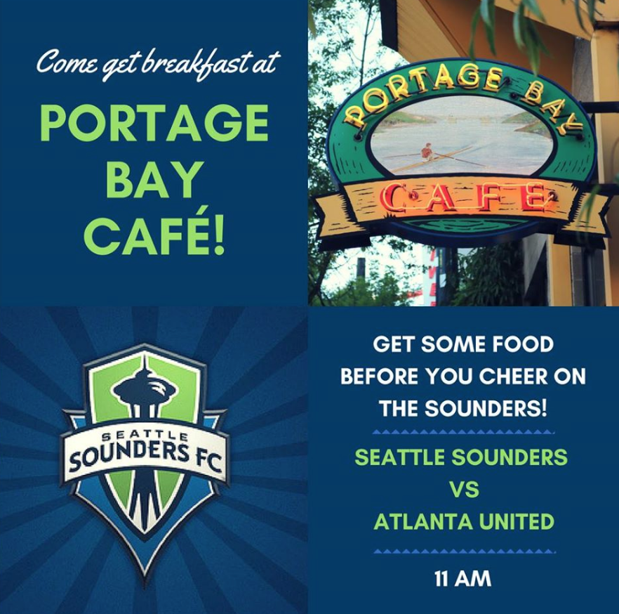 Portage Bayis proud to partner with Seattle Sounders FC to bring you good food and a good game!
