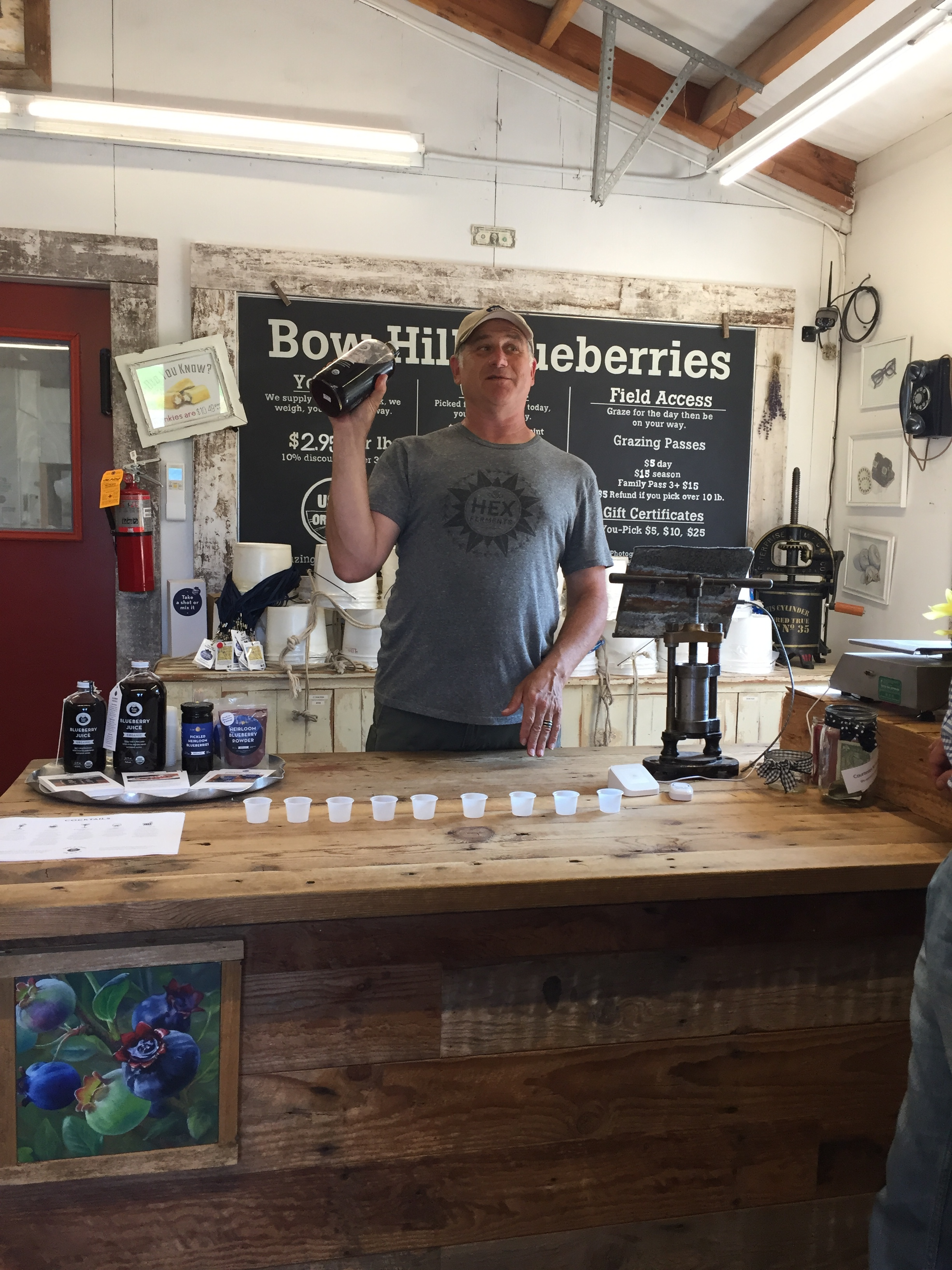 Bow Hill Blueberries, our last stop, is renowned for its blueberry ice cream.