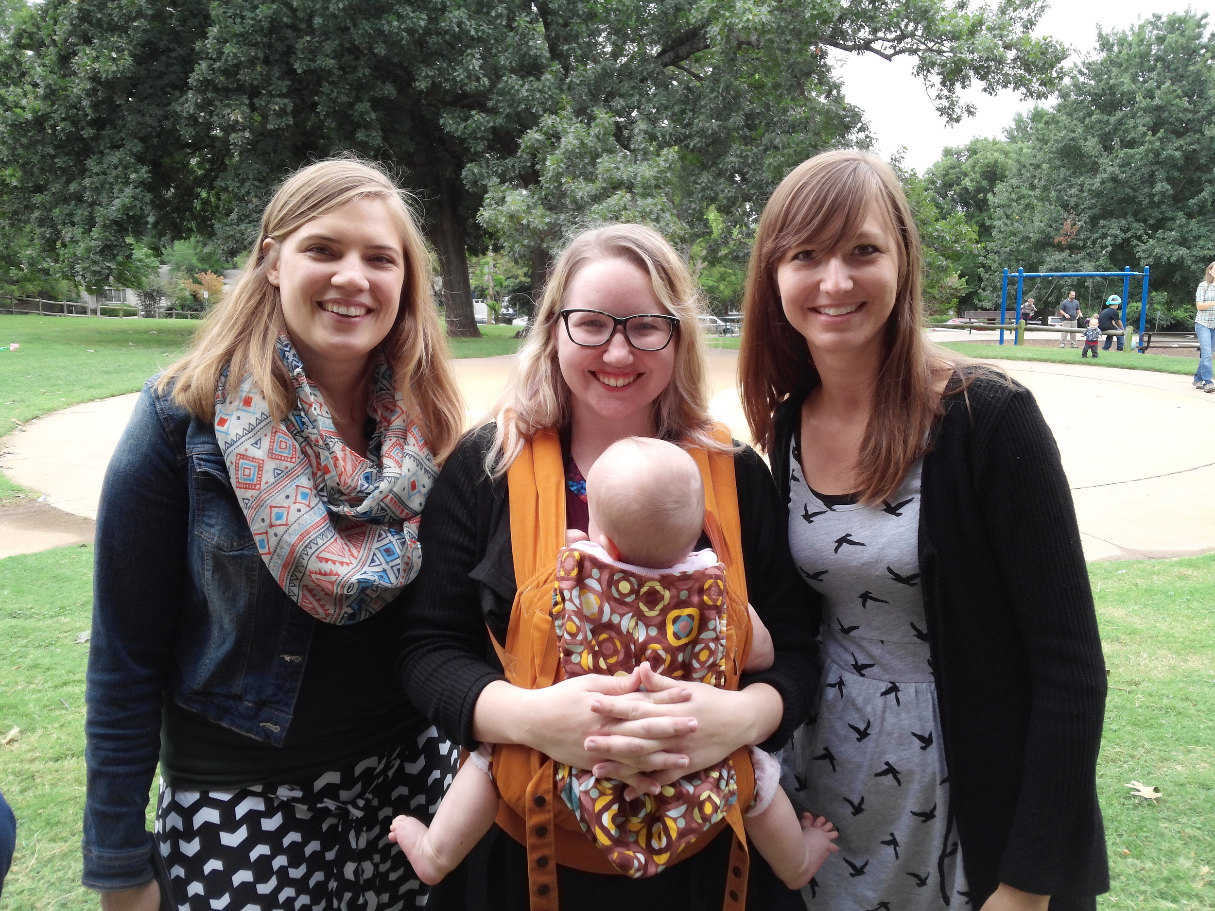 Rebecca Shultz, Sarah Davis, Faith Morie