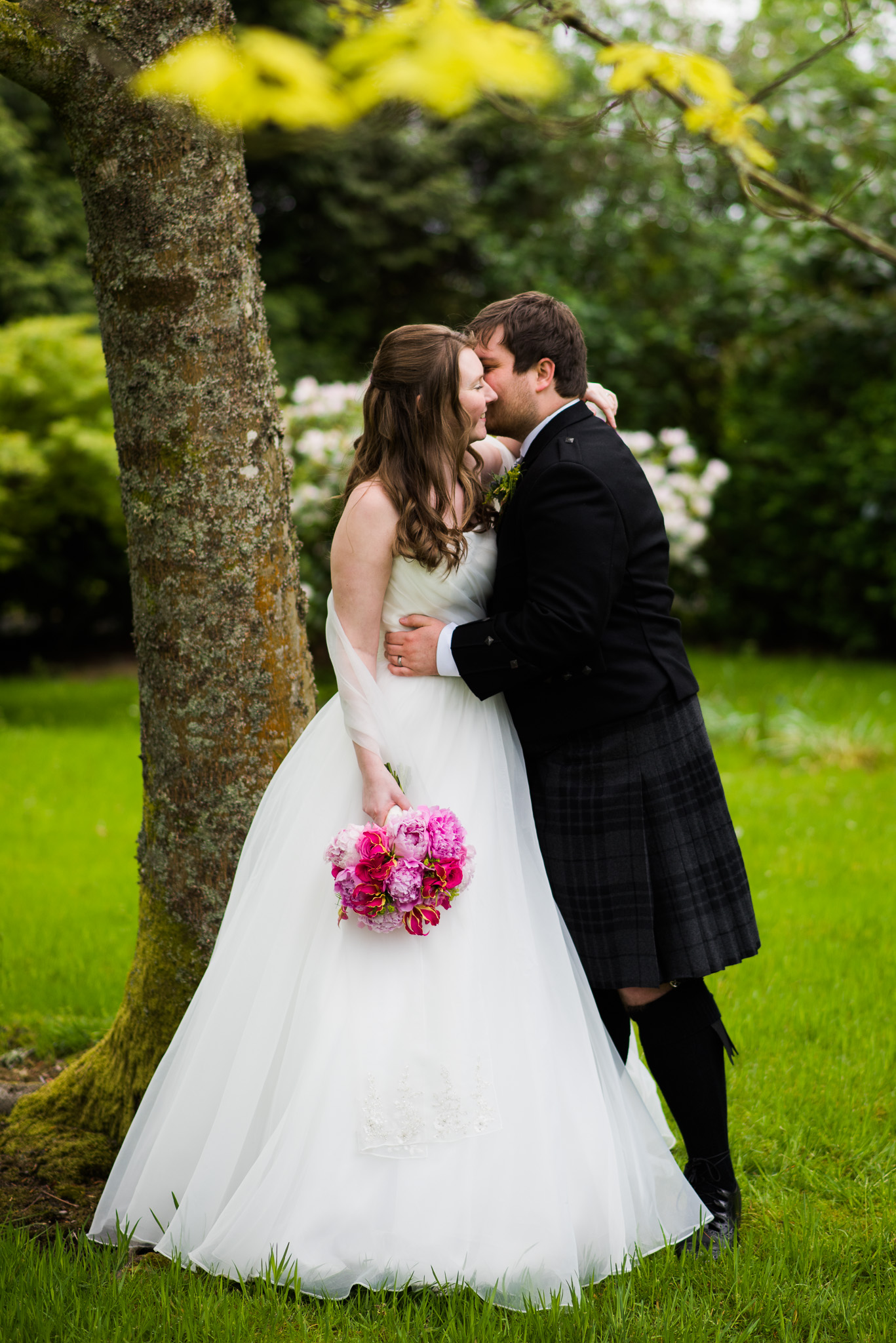 Bride & Groom at Killearn Wedding