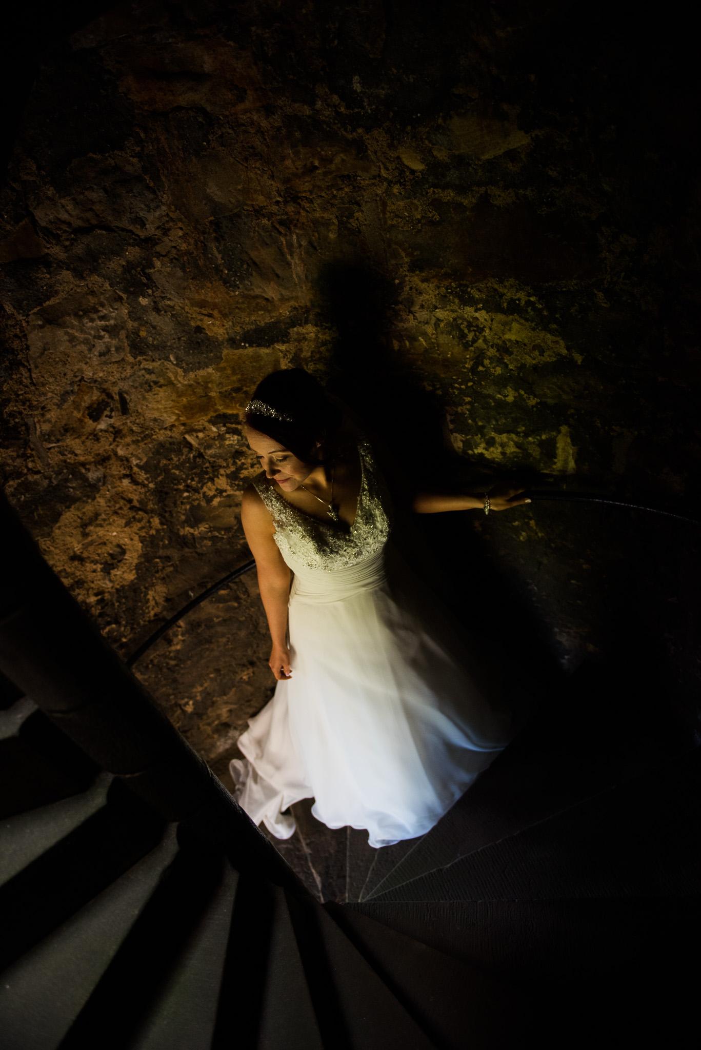 Bride Aberdour Castle Wedding Dress