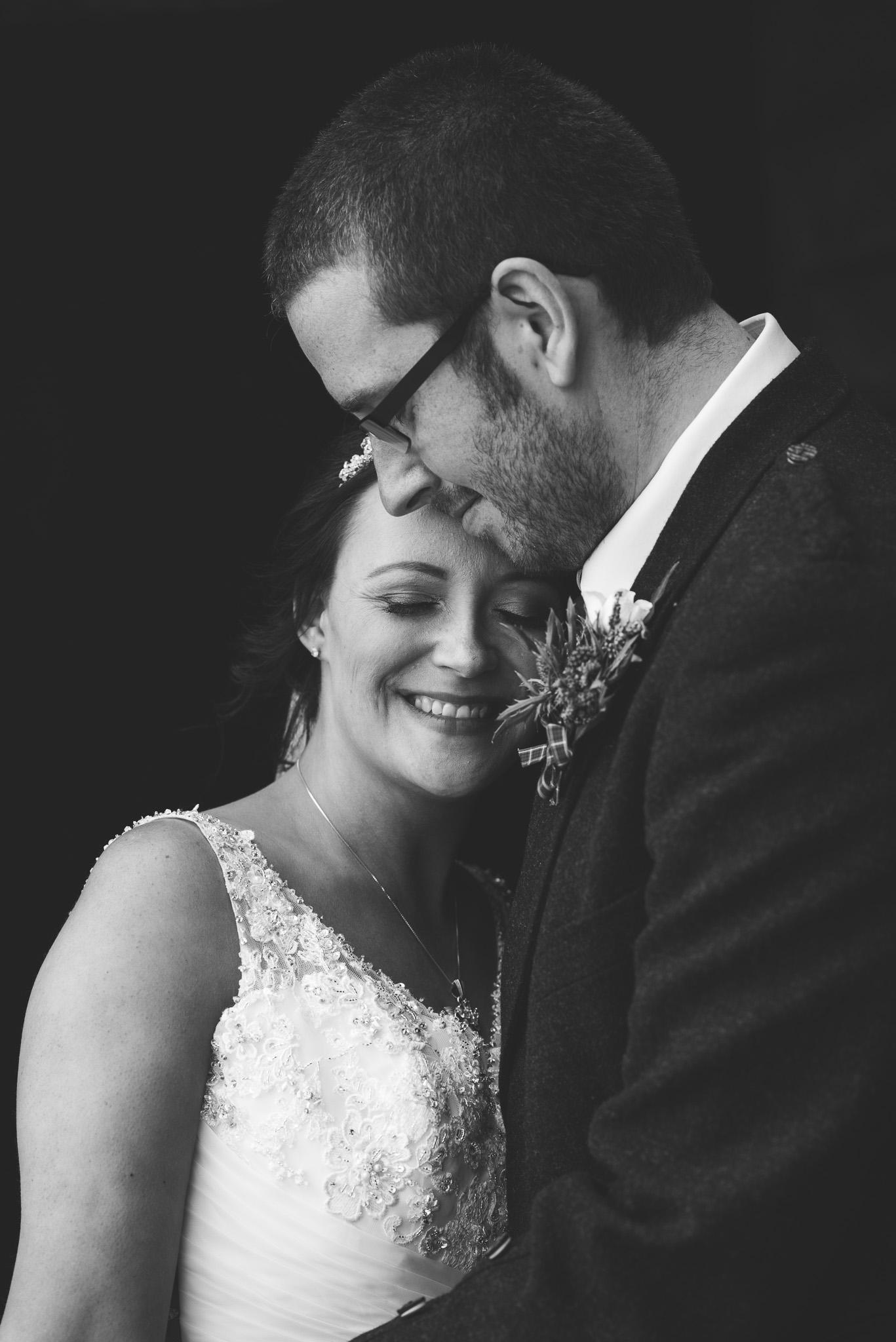 Bride and Groom Aberdour Castle Wedding