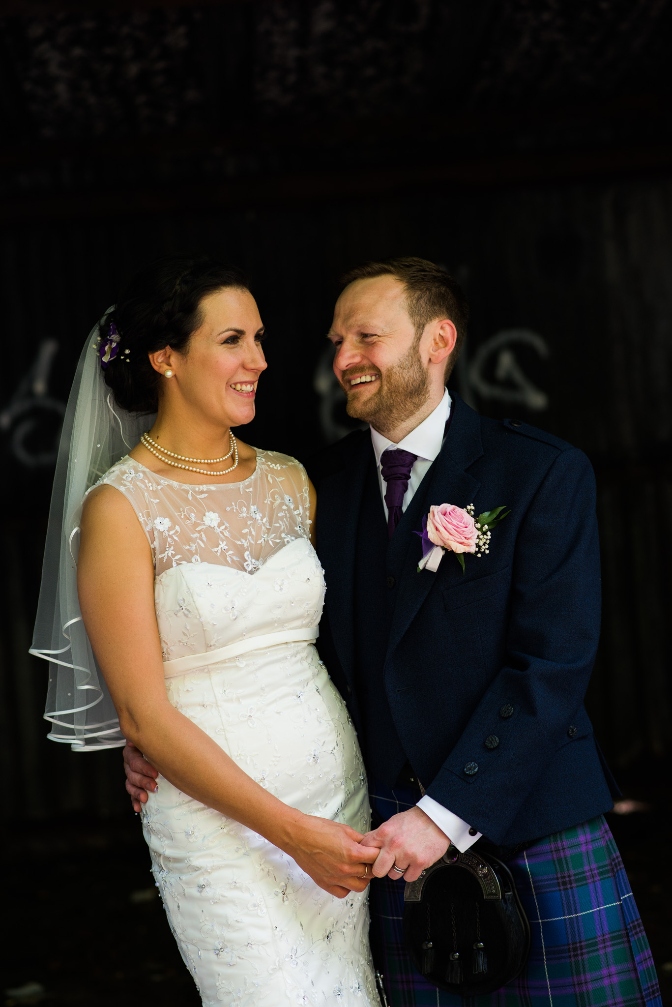 Bride and Groom at Pollokshields Burgh Hall