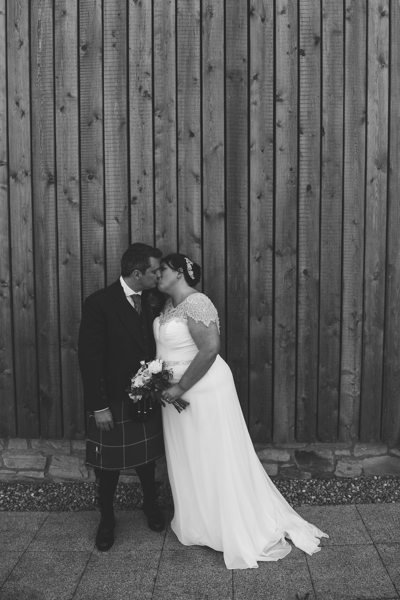 Bride and Groom at Ardoch Loch Lomond Wedding