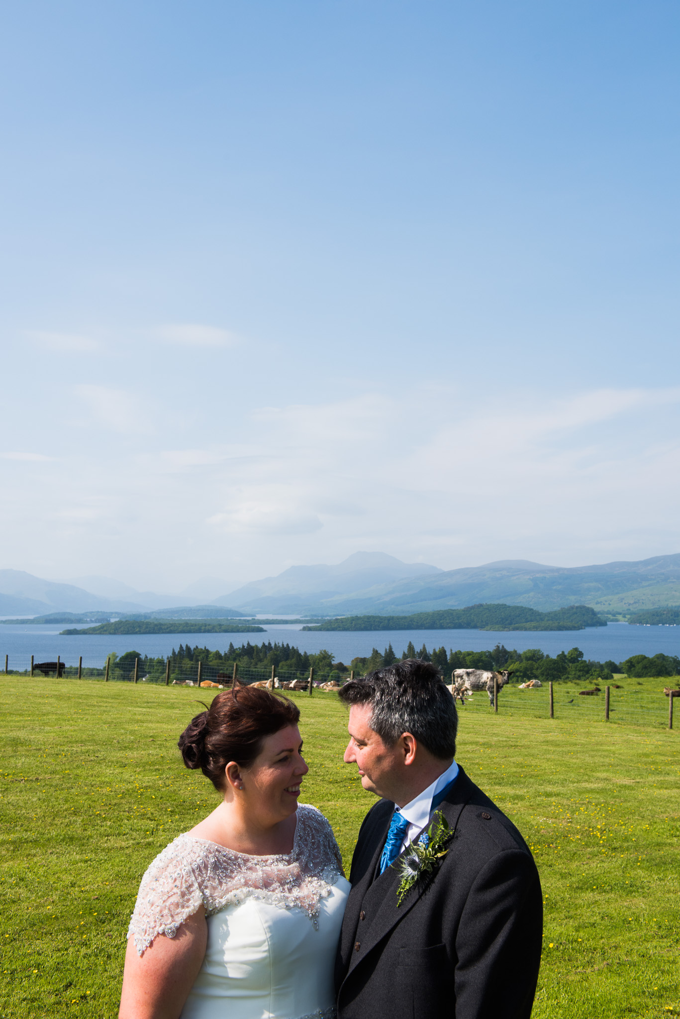 Wedding Couple at Ardoch Loch Lomond