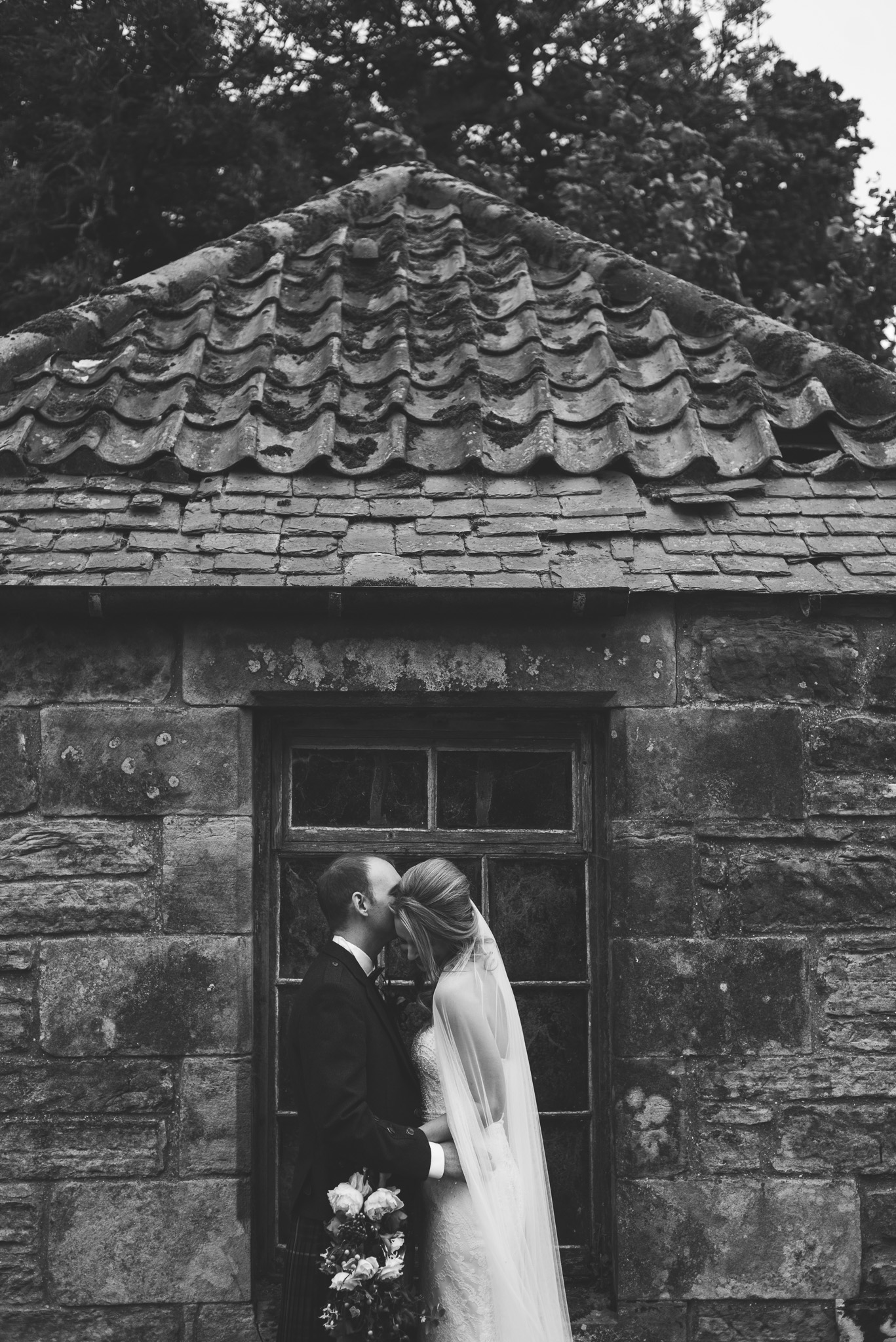 Bride and Groom Kinkell Byre Wedding
