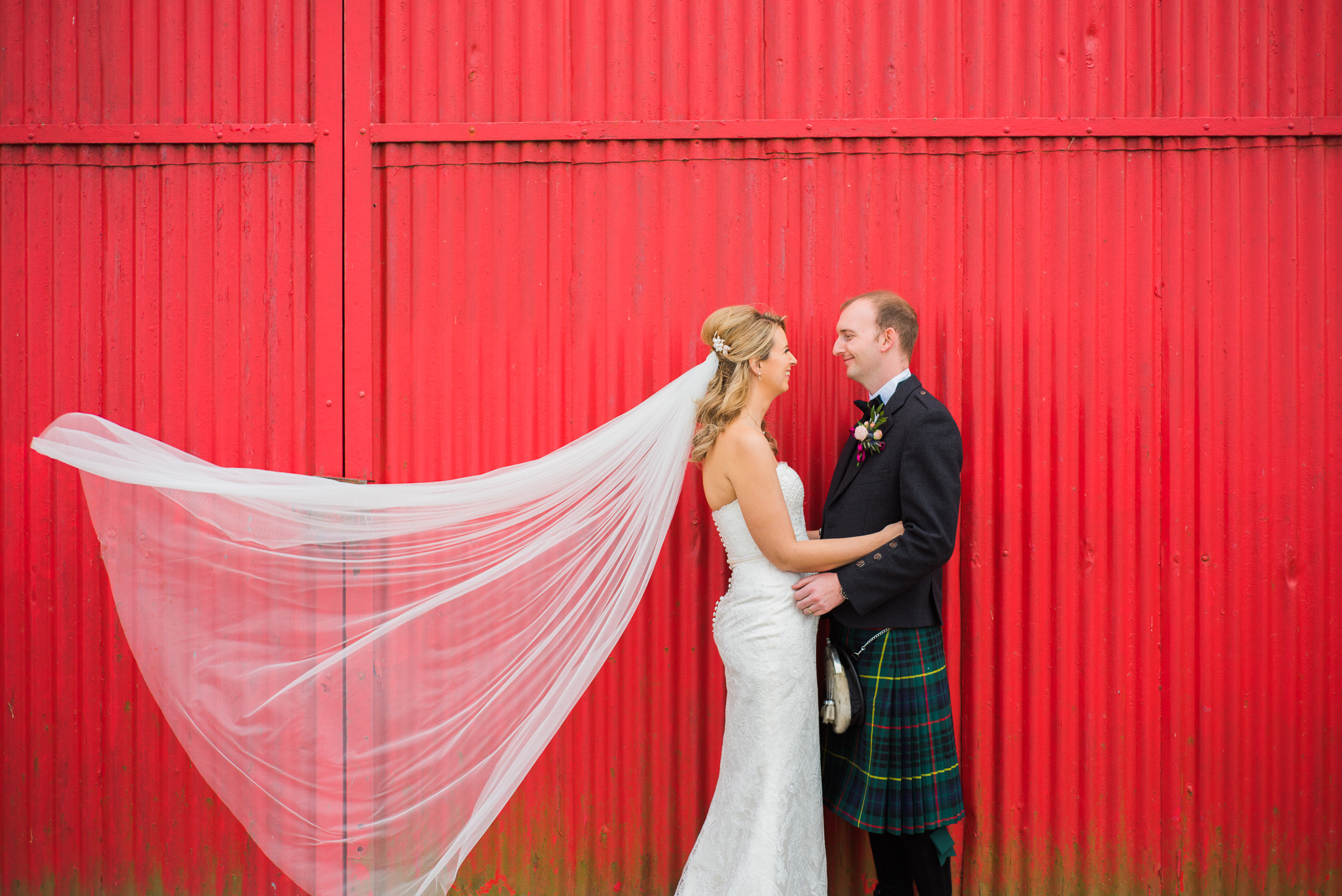 Wedding Veil at Kinkell Byre