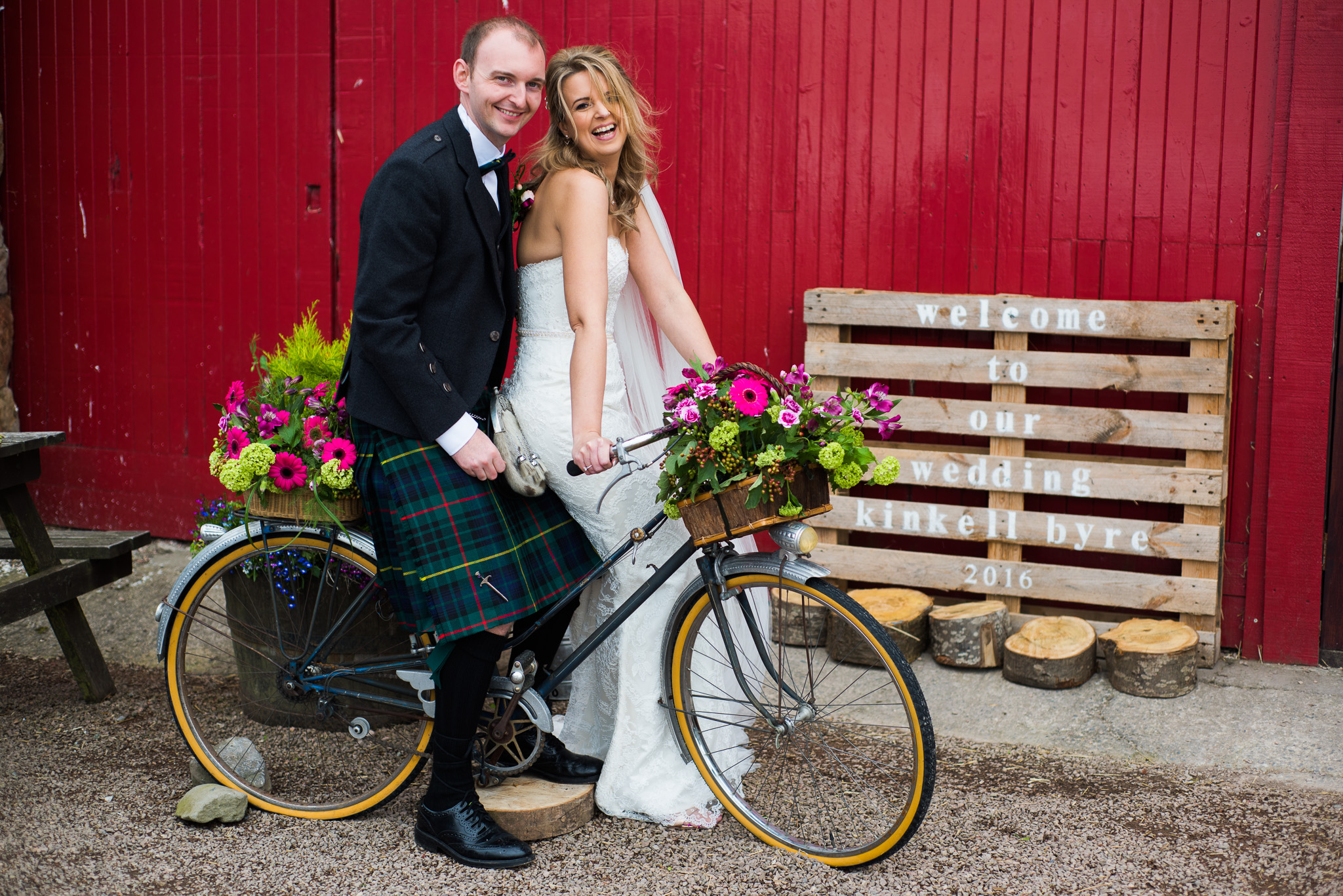 Kinkell Byre Bicycle Wedding