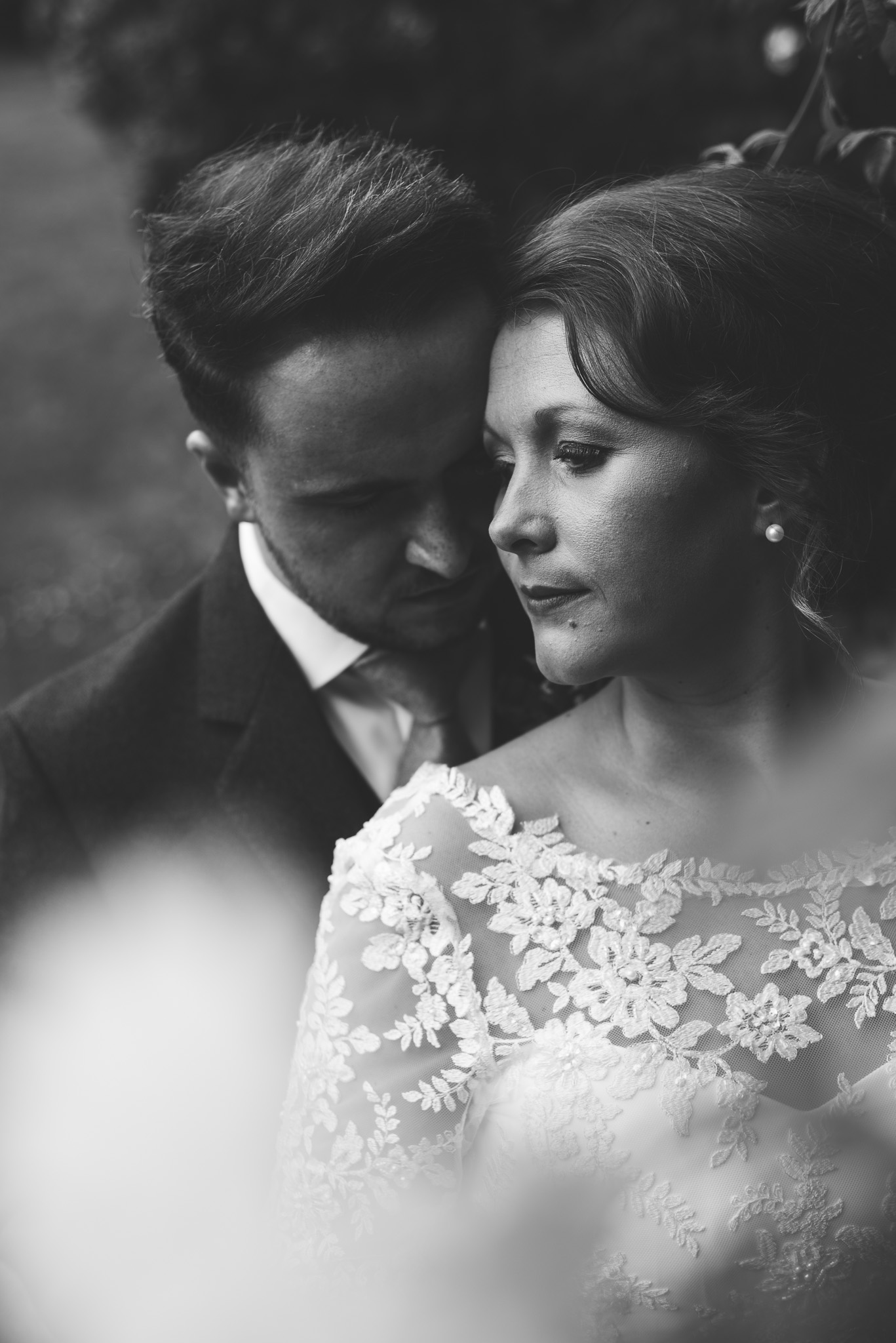 Bride and Groom at Kirknewton Stables Scotland