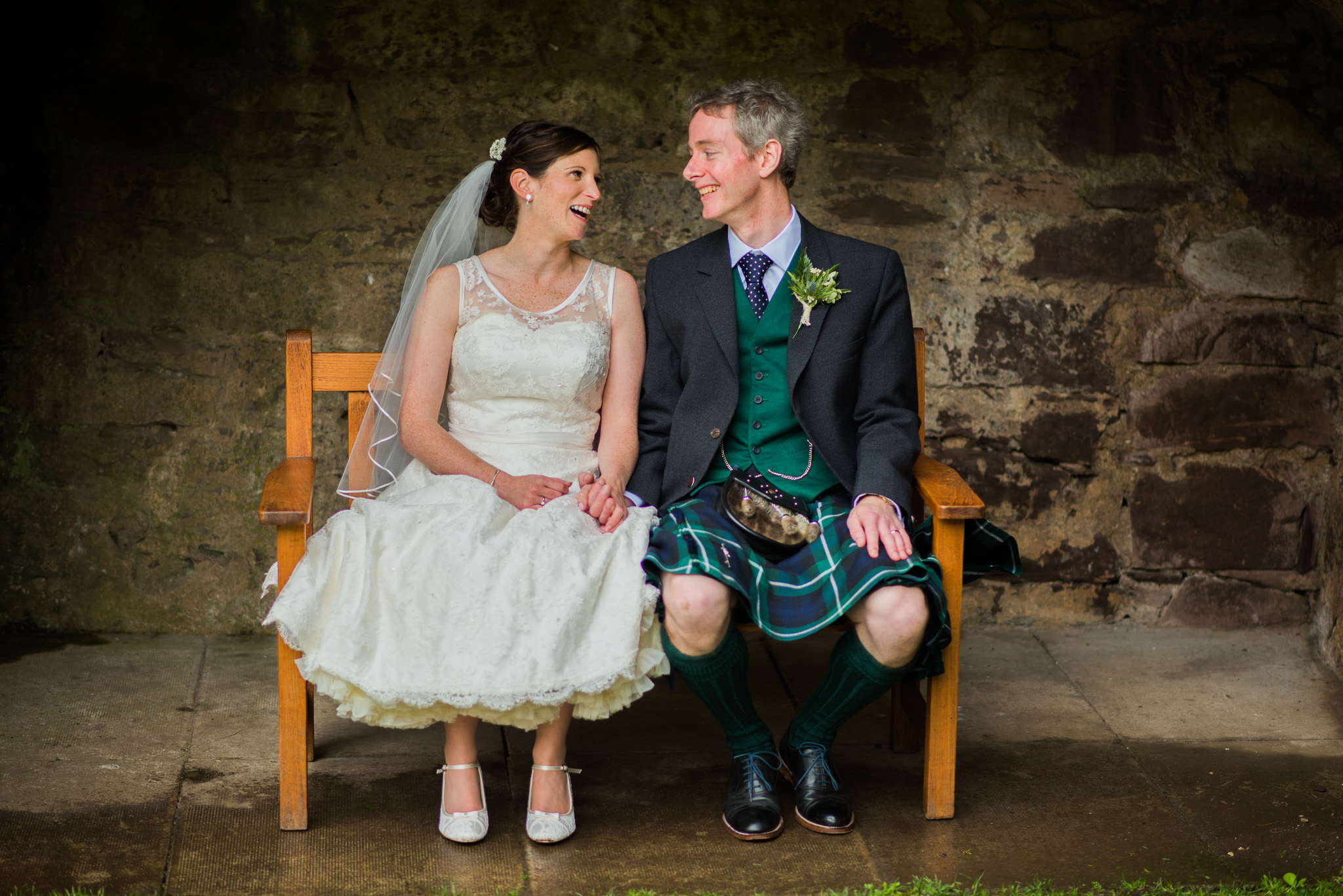 Doune Castle Wedding Couple