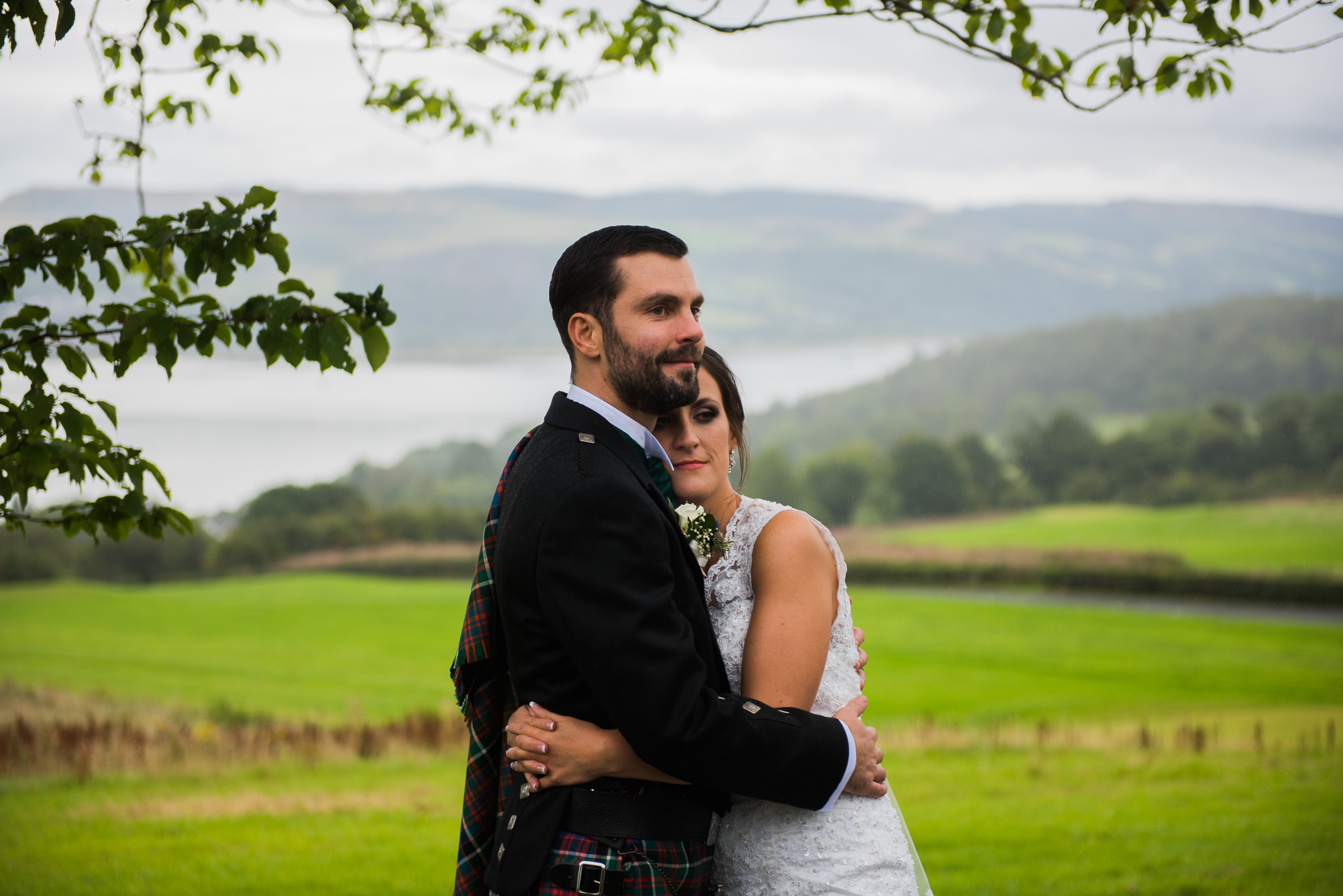 Gleddoch House Wedding Couple