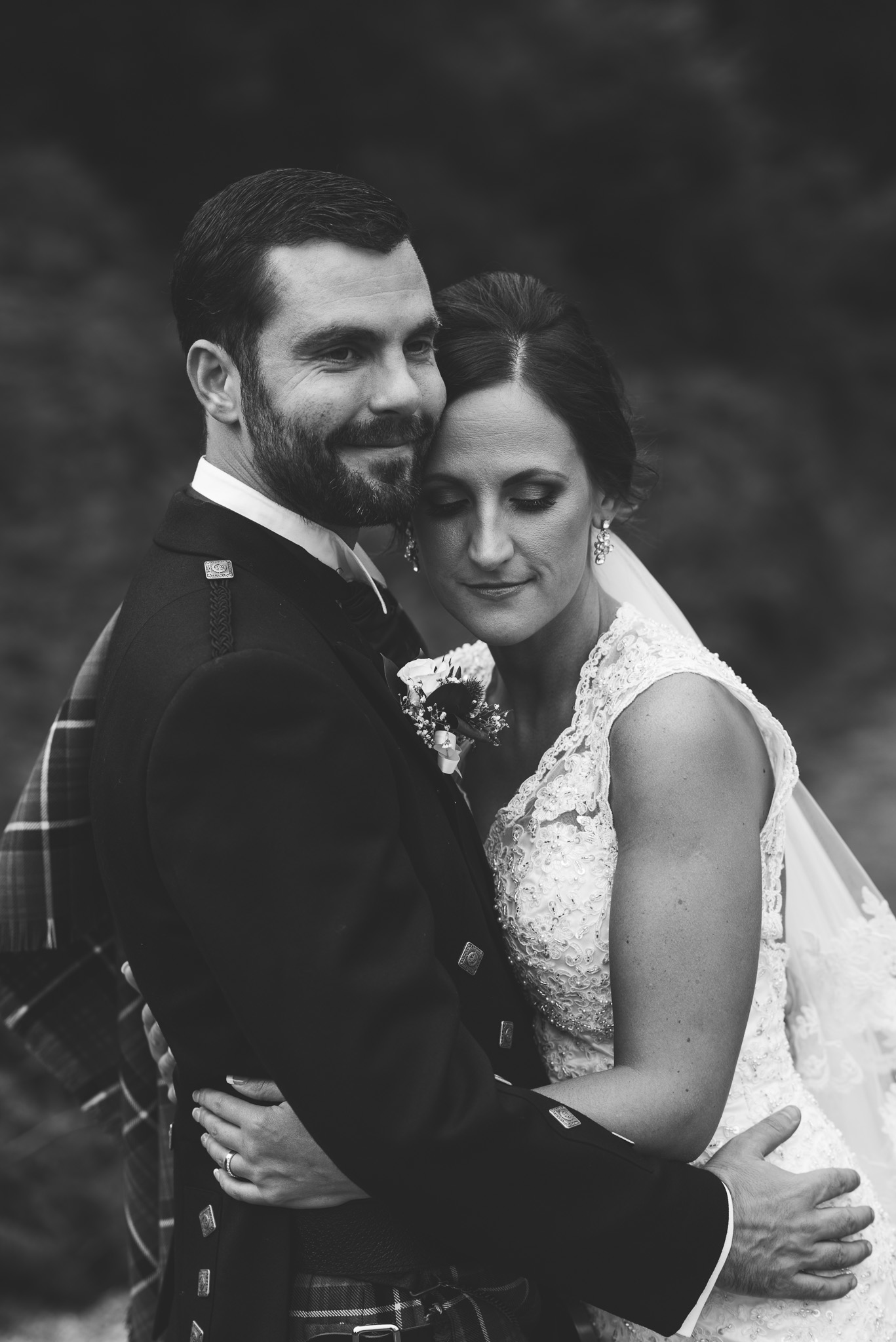 Bride and Groom at Gleddoch House Wedding