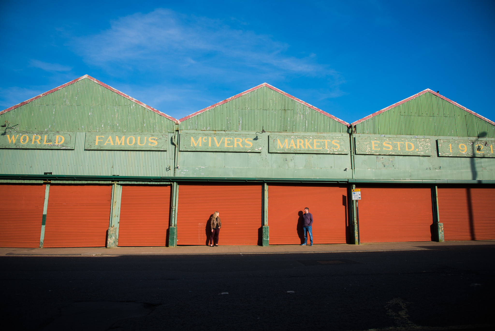The Barrowlands market couple shoot