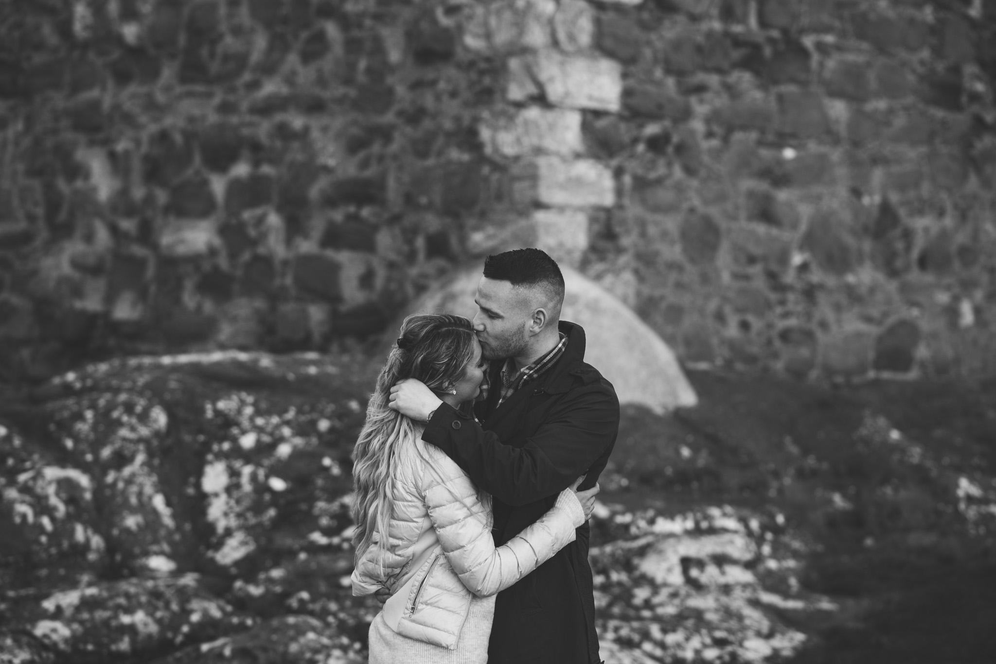 Portencross Castle engagement session