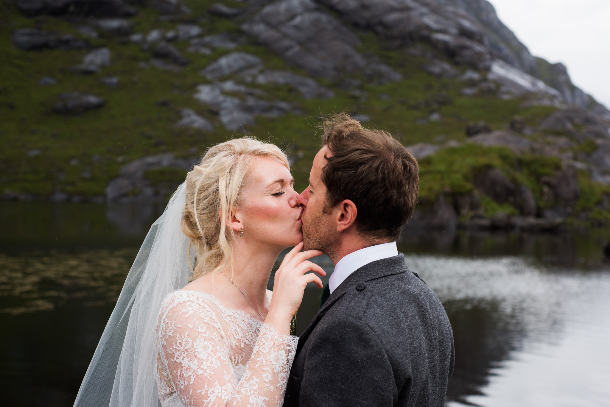A Loch Coruisk kiss for Skye Elopement