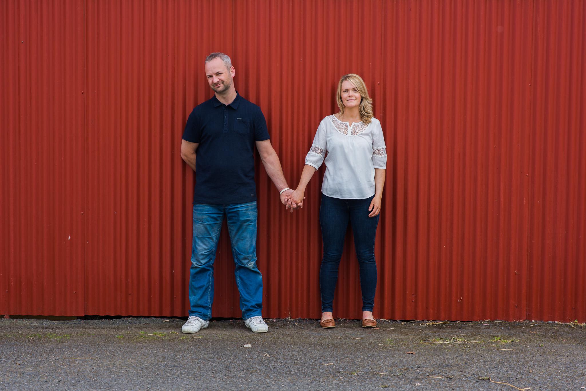 Dalduff Farm Barn Engagement