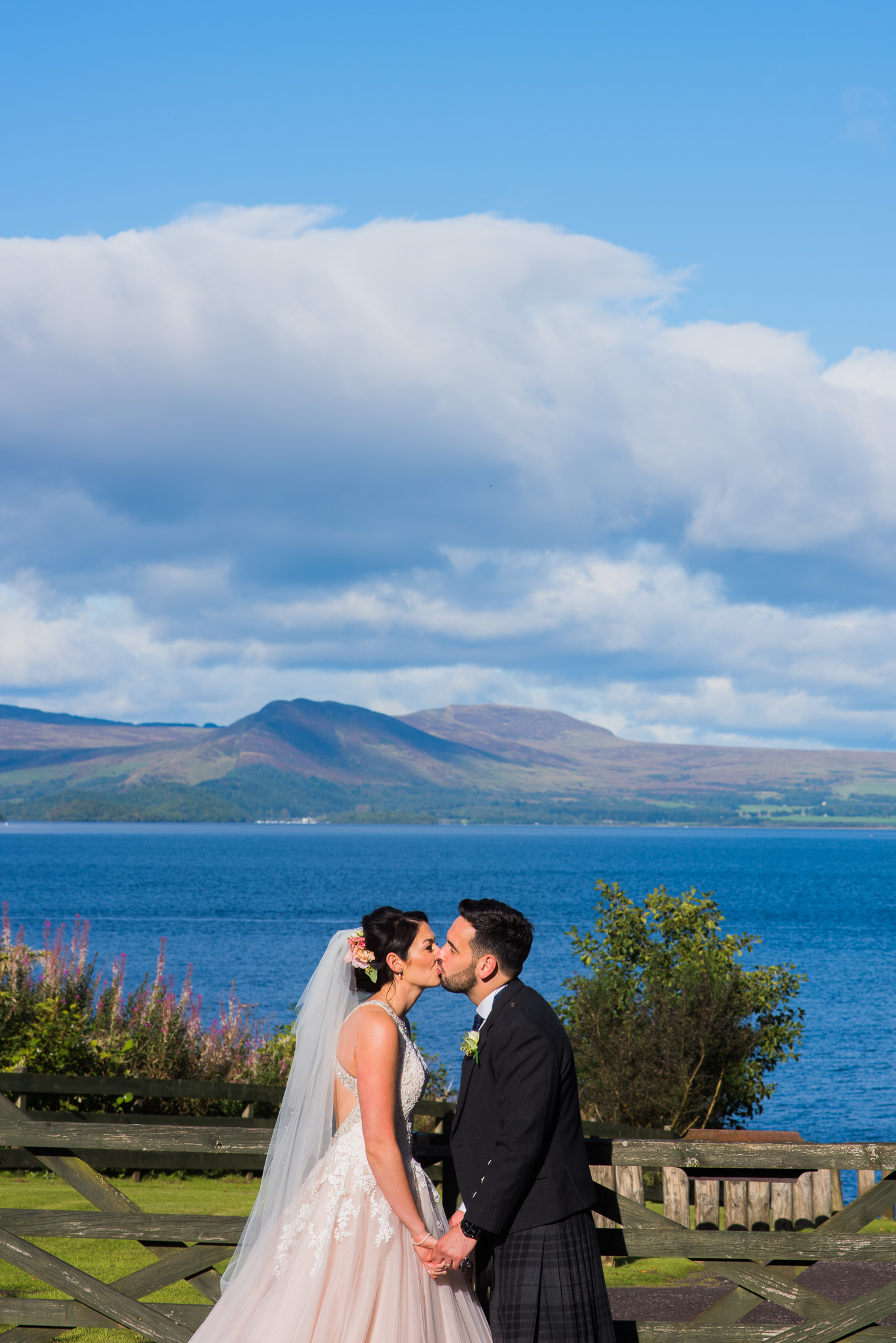 Bride and Groom at Loch Lomond Wedding