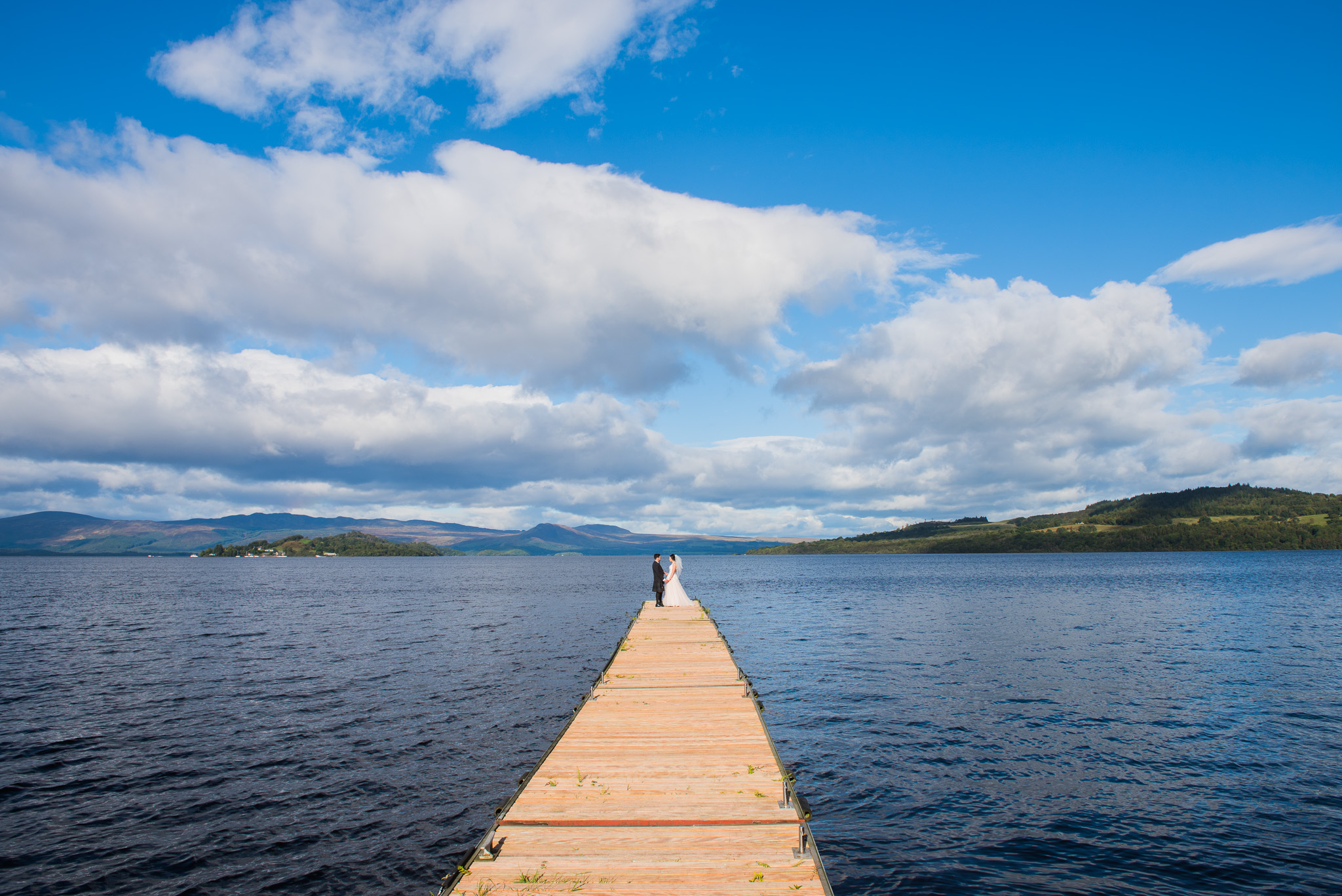Jetty at The Cruin Loch Lomond Wedding