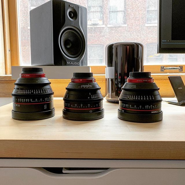 "Every time I rent these there is a little voice in my head saying ""....buuuyyyyyyy usssss Michael..."" and it's getting harder to ignore that. • • • #canon @canonusa #cinemalenses #director #c300mkii #filmmaker #productioncompany #kansascity #kcmo #instakc #igkansascity #videogear #cinema #camera #tech"